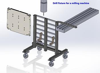 Custom drill fixture for milling machine