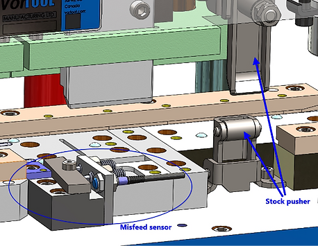 Progressive sheet metal stamping tool and die design