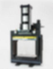 Box frame pneumatic shop air press