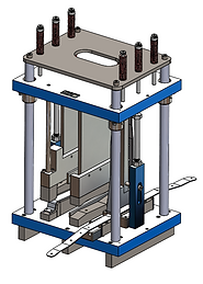 Press forming sheet metal tool design by Vortool Manufacturing. Made in Canada.