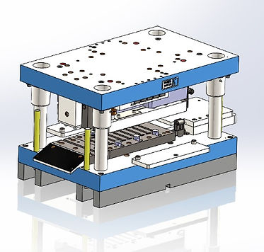 Multi station sheet metal stamping die design by Zoltan Voros at Vortool Manufacturing, Canada