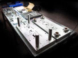 Progressive sheet metal stamping die components