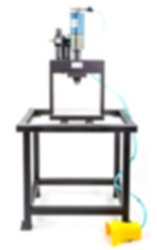 Portable bench top 7 ton air to oil Multicyl punch press Vortool