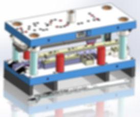 Custom progressive sheet metal stamping tool and die design