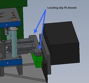 Metal stamping die set up solution