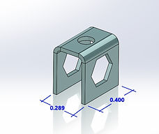 U shaped formed part metal stamping