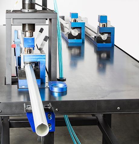 Air to oil mandrel punch press tool aluminum tube North America, Canada