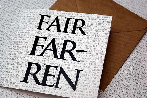 Greeting Card - Fairfarren