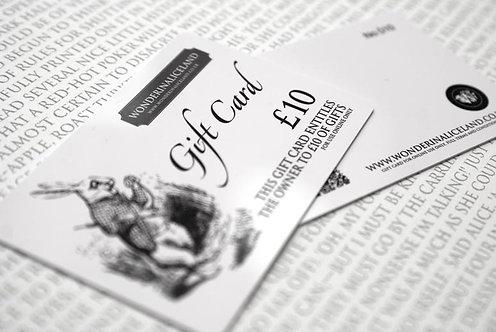 Wonderland Gift Card £10