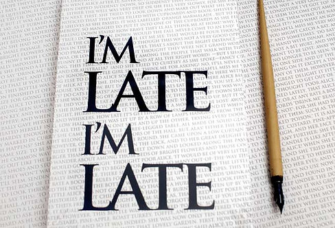 Writing Book - I'm Late I'm Late