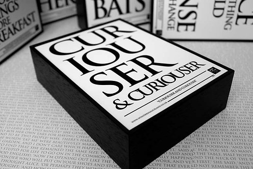 Framed Quote - Curiouser & Curiouser