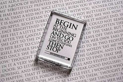 Begin at the Beginning.... - Magnet