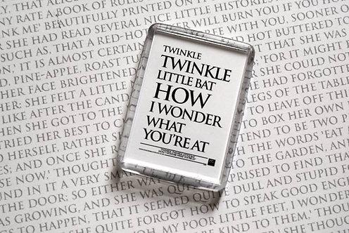 Twinkle, twinkle, little Bat... - Magnet