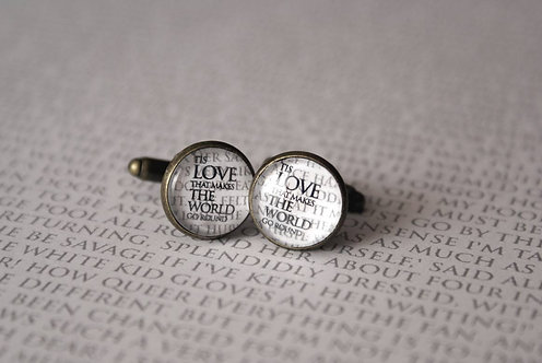 Cufflinks - Tis Love that makes the World...