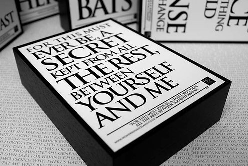 Framed Quote - For this must ever be...