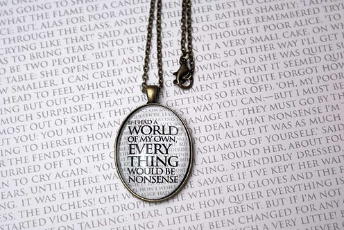 Pendant - If I had a World of My Own...