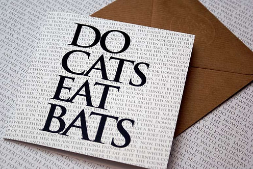 Greeting Card - Do Cats Eat Bats