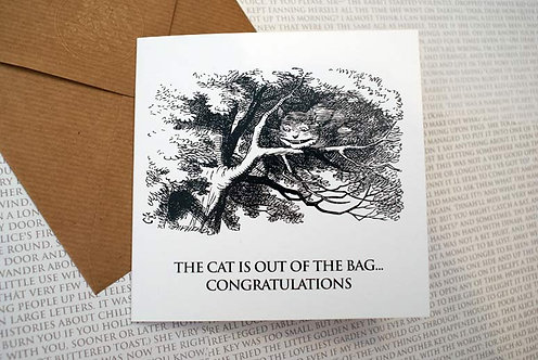 Picture Greeting Card - The cat is out...