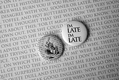 Button Badge Set - Rabbit