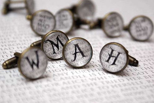 Cufflinks - Letters & Numbers