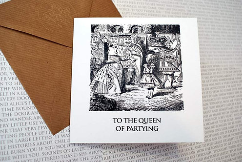 Picture Greeting Card - To the Queen of partying
