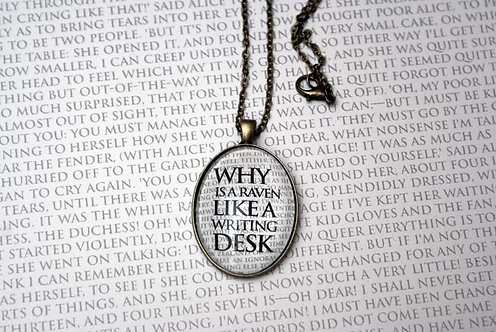 Pendant - Why is a Raven Like a Writing Desk