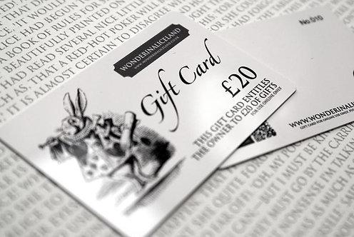 Wonderland Gift Card £20