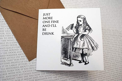 Picture Greeting Card - Just one more fine...