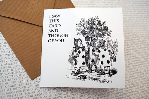 Picture Greeting Card - I saw this card...