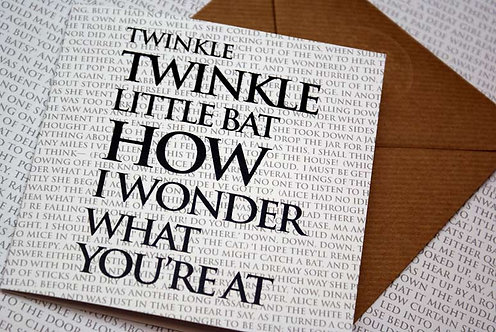 Greeting Card - Twinkle, twinkle, little Bat...