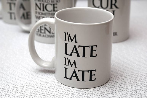 I'm Late, I'm Late Wonderland Mug