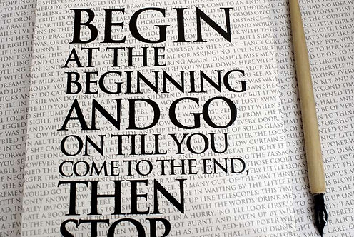 Writing Book - Begin at the Beginning...