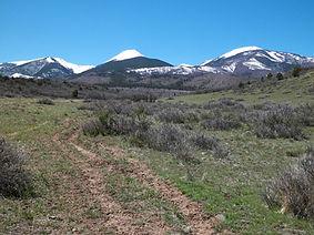 Mountain views from Lot 23 at Maytag Mountain Ranch