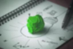 Bli mer bærekraftig. Bilde av grønn lyspære.