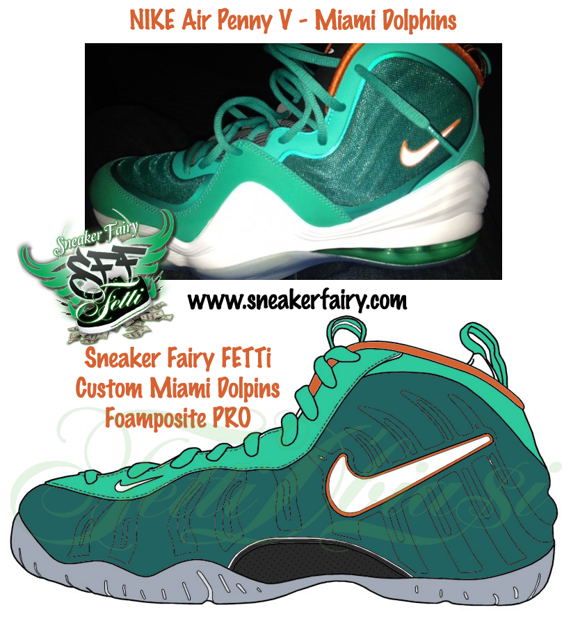 reputable site 8fae8 26f25 It was a tough decision, so I created a draft of the Foamposite PRO in the  Miami Dolphins colorway which  snkrluvrs want to see come to life.