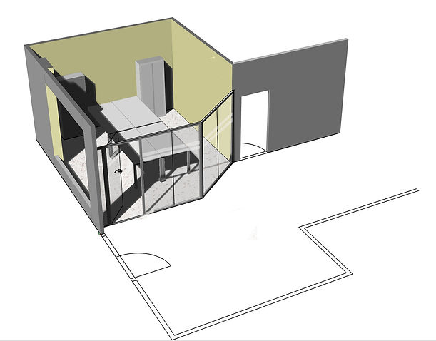 Plano 3D de una oficina