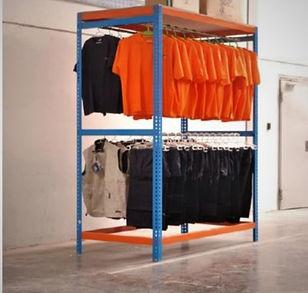 Estantería manual para textil