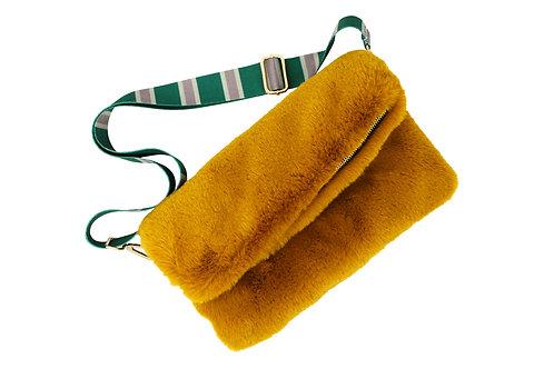 Faux Fur - Bag - Mustard