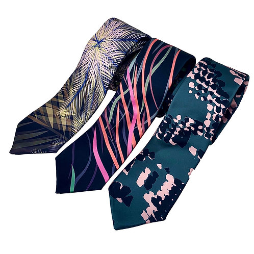 Men's Satin Print Ties