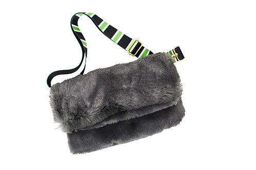 Faux Fur - Bag - Grey