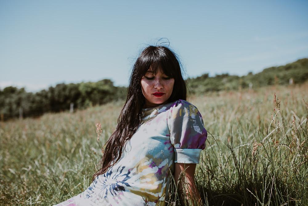 Rebecca J Mills Dream Print Sweatshirt Dress