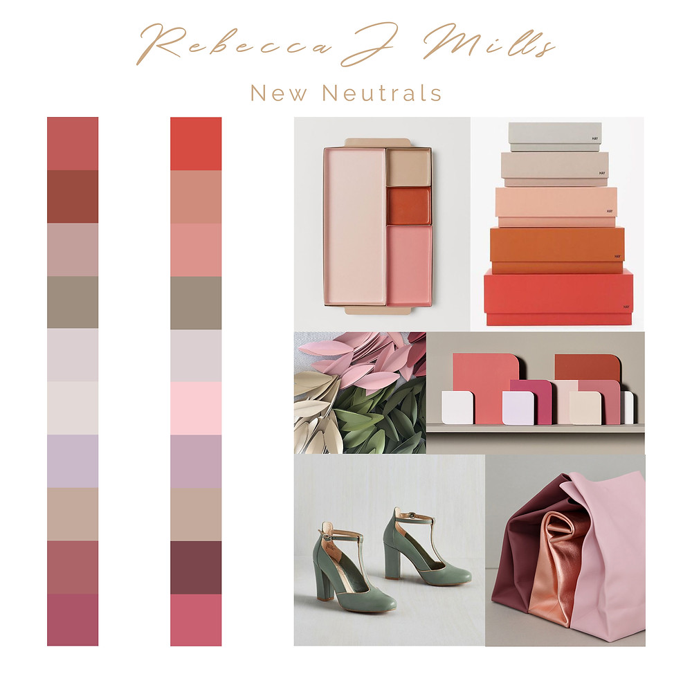 Rebecca J Mille mood board for New Neutrals