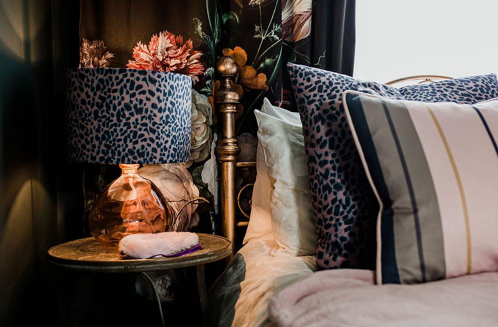 Rebecca J Mills Magic velvet printed luxury lampshade