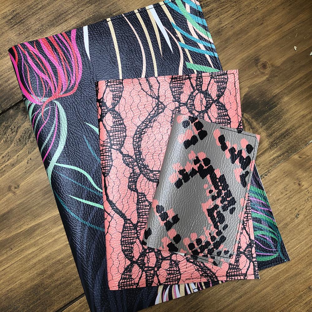 Vegan Leather Stationery by Rebecca J Mills