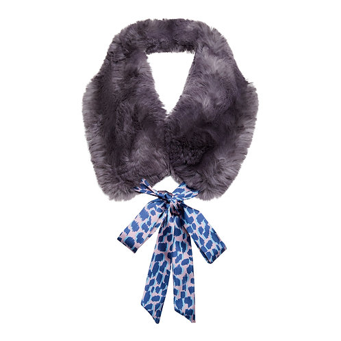 Faux Fur Collar - Grey Collar