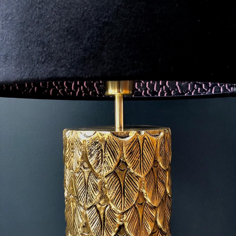 Rebecca J Mills Luxury Gone Missing Velvet shade with animal print inner