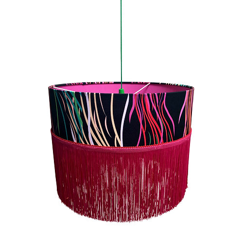 Fringed Ceiling Lampshade - Grassed