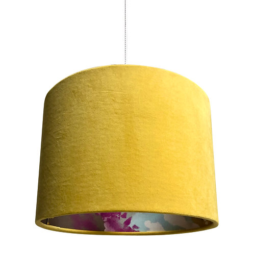 Lampshade - Banana Yellow Velvet with Dream Inner