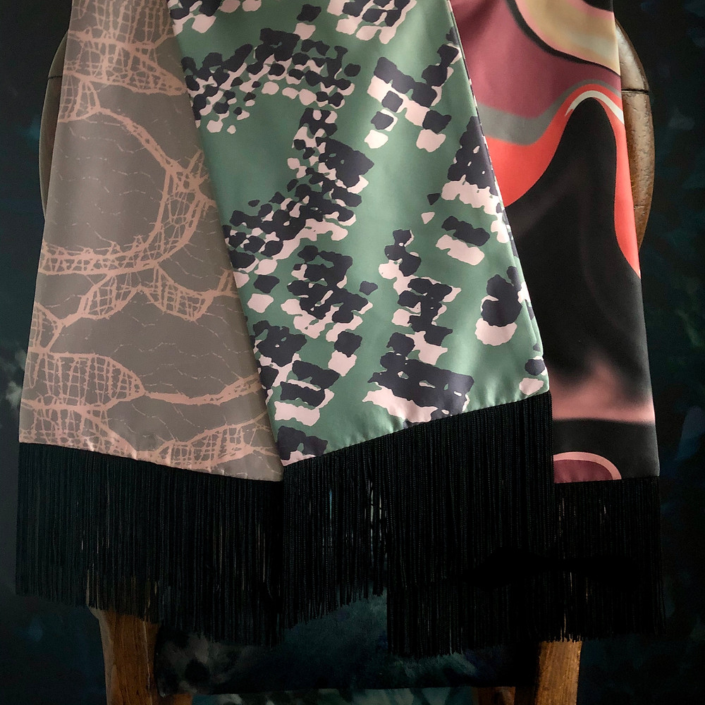 Fringed Scarves by Rebecca J Mills Designs
