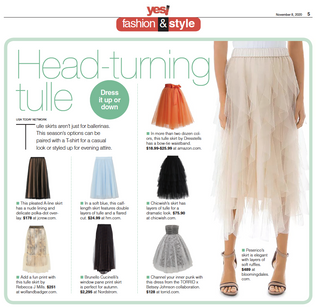 USA Today featuring Rebecca J Mills Breeze printed Tulle Skirt